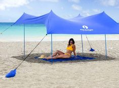 Buying a canopy is able to keep you and your family happy for years to come which is really the same as choosing every other piece of camping gear. Some look for best camping canopy for rain while oth Beach Canopy Tent, Beach Shade Tent, Sun Shade Canopy, Camping Canopy, Beach Umbrella, Canopies, Backyard Camping, Beach Vacation Spots, Beach Travel