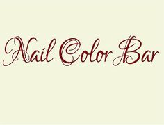 "Nail Color Bar 7""H x 36""W- Vinyl Wall Decal-Beauty Salon Shop Wall Decal Lettering-Wall Art-Wall Decor"