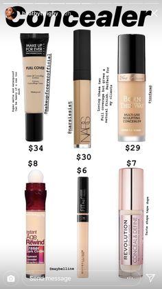 Concealer Dupes Best Drugstore Makeup, Drugstore Makeup Dupes, Makeup Cosmetics, Best Makeup Products, Beauty Products, Make Up Kits, Eyeliner, Eyeshadow, Make Up Dupes