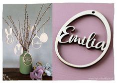 Wunderschönes Oster-Deko-Set mit Wunschname! Das Set beinhaltet 7 Eier. Wreaths, Design, Home Decor, Products, Ears, Great Gifts, Handarbeit, Decoration Home, Door Wreaths