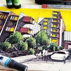 _ • TAG YOUR ARCHITECTURE FRIENDS TO SEE THS .. What do you thing about it ? by @m.ansari.architect . #architecture #arquitectura #sketch #scetch #design #art . • Follow @arch_cad for more daily sketchs . #sketchbook ✏❤