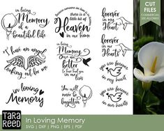 In Loving Memory / Loving Memory svg / Grief svg / Loss svg / Family Loss svg / svg files / svg for Cricut / svg for Silhouette