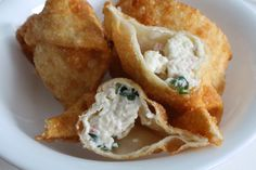 Crab Rangoon Eating Well, Side Dishes, Seafood, Veggies, Appetizers, Snacks, Ethnic Recipes, Sea Food, Tapas Food