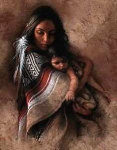 Beautiful-Indian-Mother-And-Child-Painting.jpg (600×771)