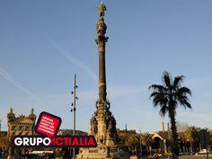 Barcelona. Estàtua Cristóbal Colon. Grup Actialia ofrece sus servicios en Barcelona: Diseño web, Diseño gráfico, Imprenta y Rotulación. www.grupoactialia.com