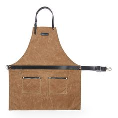A waxed canvas and leather apron made by Hardmill and used in the Starbucks Reserve Roastery and Tasting Room in Seattle. As great for cooking as it is for roasting and brewing coffee, this waxed apron is pure craftsmanship.