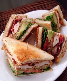 California Club Sandwich - I like doing this but in a green avocado wrap. Just used microwavable bacon. You can also use mayo or flavored cream cheese or even ranch dressing. They are all good.