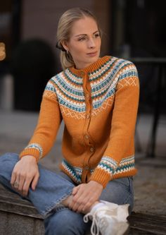 Garnpakke: Gretekofte i Alpakka Forte - Knitting Inna Diana, Knitwear, Men Sweater, Pullover, Denim, Knitting, Sweaters, Women, Fashion