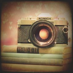 Still Life Photography: vintage camera girl by MarianneLoMonaco