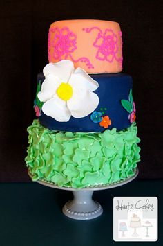 Northern Virginia Wedding Cake Floral Bouquet Sugar Flowers   Haute Cakes Pastry Shop