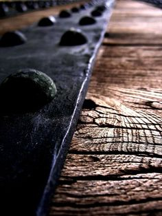 weathered wood and iron