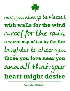{Printables} An Irish Blessing for St. Patrick's Day - A Night Owl Blog