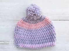 Ravelry: 40 Minute Baby Beanie pattern by Melissa Hassler – Knitting For Beginners Baby Beanie Crochet Pattern, Beanie Pattern, Crochet Baby Hats, Baby Knitting, Free Crochet, Shrug Pattern, Simple Crochet, Quick Crochet, Blanket Crochet
