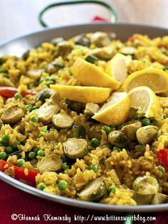 Uncle Alberto's Vegan Paella recipe--I made this and it was good (though I used a bit of turmeric instead of costly saffron.)