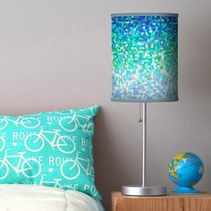 SOLD Table Lamp Mosaic Sparkley Texture https://www.zazzle.com/table_lamp_mosaic_sparkley_texture-256162894601146722 #Zazzle #Table #Lamp #Mosaic #Sparkley #Texture #home #homedecor #turquoise #blue