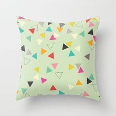 Triangles Throw Pillow by Anne Was Here - $20.00