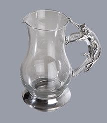 Pewter handcrafted. Diana Carmichael design. Jug 1.3 Litres Clear Cheetah…