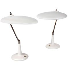 Pair of Table Lamps Designed by Oscar Torlasco | From a unique collection of antique and modern table lamps at http://www.1stdibs.com/furniture/lighting/table-lamps/