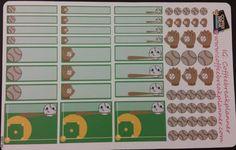 Planner Stickers Erin Condren Baseball by CoffeeBreakPlanner