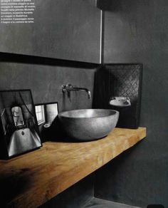 47 Ideas For Bathroom Modern Grey Countertops Concrete Bathroom, Concrete Wood, Bathroom Flooring, Concrete Basin, Cement Tiles, Dark Bathrooms, Amazing Bathrooms, Modern Bathroom, Bathroom Black