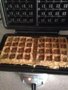 Waffles avena y miel
