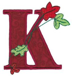 Bunnycup Embroidery | Free Machine Embroidery Designs | Autumn Alphabet..k is for Kurt