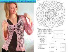 7 posts published by lorenaelg during October 2012 Blouse Au Crochet, Crochet Jacket, Crochet Cardigan, Beau Crochet, Crochet Girls, Knit Crochet, Crochet Chart, Crochet Stitches, Crochet Patterns