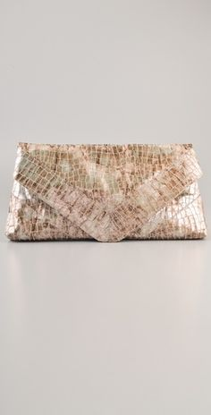 Foley + Corinna    Foley + Corrina - Georgina Oversized Clutch- This oversized cotton clutch features a metallic croc pattern.                     	              	            	  	            	  	                                        Georgina Oversized Clutch