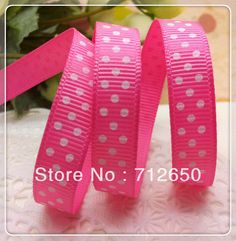 Find More Ribbons Information about Free shipping high quality Hot Pink color C156 3/8'' (9mm) three dots printed ribbon Grosgrain Ribbon DIY hairbows Kids gift,High Quality gift cute,China gifts cross Suppliers, Cheap gift from E & F Ribbon & Motifs Co.,Ltd. on Aliexpress.com