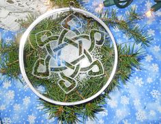 Celtic Snowflake Ornament by artophile on Etsy, $15.00 #ornament #expats #holiday #glass