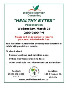 Healthy Bytes - Nutrition month presentation about cooking and nutrition apps. Nutrition Apps, Nutrition Month, Registered Dietitian Nutritionist, Presentation, Cooking, Healthy, Kitchen, Health, Brewing