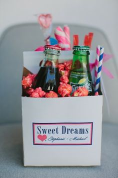 "Goodie box ""To go"" for wedding guests- awesome idea!"