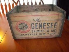 Genesee Brewing Wooden Beer Box | eBay