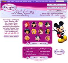 Schedule a phone call from your favorite Disney character
