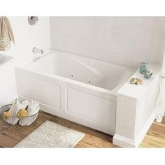 American Standard EverClean 5 Ft. X 32 In. Left Drain Whirlpool Tub In White
