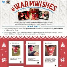 Tim Hortons' Warm Wishes Campaign Encourages Paying It Forward #socialmedia #holiday trendhunter.com