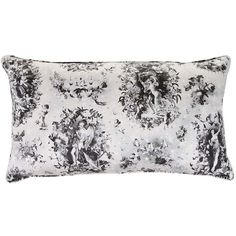 Jean Paul Gaultier Sentiment Cushion - Black (£47) ❤ liked on Polyvore featuring home, home decor, throw pillows, black accent pillows, black and white home decor, black and white toss pillows, black home decor и flower throw pillow