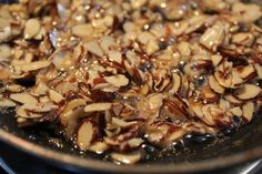 Honey-Glazed Almonds for homemade candy, cookies, cakes, and brownies