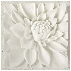 Lotus 3D Plaster Art on Canvas by Bellaarista