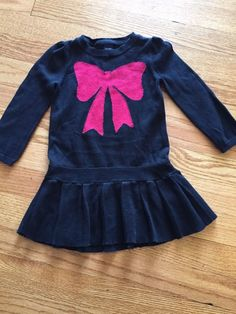 Baby Gap Toddler Girl Dress Size 18 24 Months Knit Red Bow | eBay