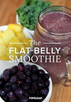 Pair your gym routine with this smoothie that will help you reach your flat-belly goals. All for under 300 calories, ingredients like greek yogurt and kale will definitely have you wanting more.