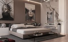 Stunning Luxury Bedroom Design Ideas To Get Quality Sleep 29 Bedroom Sets, Home Bedroom, Bedroom Furniture, Bedroom Decor, Glam Bedroom, Luxury Bedroom Design, Master Bedroom Design, Interior Design, Contemporary Bedroom