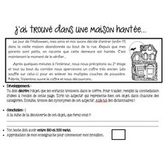 Texte descriptif - Halloween Halloween Vocabulary, Halloween Activities, School Organisation, French Worksheets, Core French, French Classroom, French Resources, French Immersion, How To Speak French