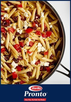 Fool 'em with a dinner so delicious, like Nina's One Pan Greek-Style Penne, full of rich feta, fresh tomatoes, and Kalamata olives, they'll think you spent all day cooking. (Actually, it only takes 15 minutes, but your secret is safe with Pronto!)