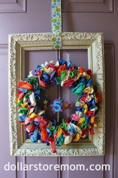 All Cheap Crafts: Birthday Balloon Wreath