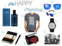 Fathers Day Mood Board present inspiration, gift ideas