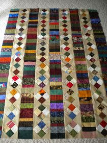 A friend came over this week to sew and this is what I worked on. This quilt was inspired by a Schnibbles quilt. I used my own dimensi...