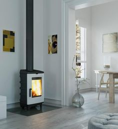 Dovre Brut Stove with White Enamel finish New Dovre Brut Stove design please call us for price and availability of the Dovre Brut in White from authorised Dovre Stove Retailers Corner Stove, Multi Fuel Stove, Wood Burner, Affordable Housing, White Enamel, White Wood, Cool Kitchens, Home Appliances, Traditional