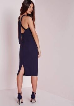 Get the latest statement party dresses at Missguided; from mini to maxi, bodycon to bardot. Shop going out dresses with tracked delivery on all orders. Day Dresses, Dresses Online, Nude Strappy Heels, Navy Midi Dress, Mi Long, Bleu Marine, Missguided, New Dress, Cold Shoulder Dress
