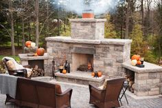 Outdoor Stone Fireplace Kits - http://homedesign.lisefuller.com/outdoor-stone-fireplace-kits/ : #OutdoorDecorations Outdoor stone fireplace kits – In general, there are three options in building materials stone fireplaces. You can do it in stone, like limestone, granite or marble – all of which come in a variety of colors and designs. You can build outdoor fireplaces natural stones are polished,...